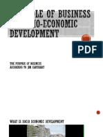 The Role of Business in Socio-Economic Development