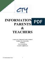 Parent Teacher Information Pack
