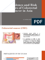PREVALENCE AND  RISK FACTORS OF COLORECTAL CANCER IN ASIA
