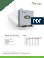 Growatt 1000-S Dan 1500-S Inverter Datasheet