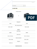 Canon EOS Comparison