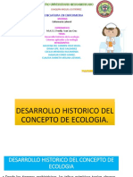 Desarrollo Histórico Del Concepto Ecología y Criterios Aplicados Al Estudio de La Ecologia