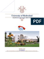 university of hyderabad phone directory