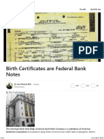 Birth Certificates Are Federal Bank Notes