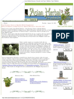 Asian Herbal Products