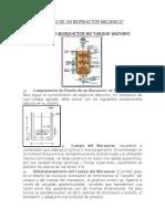 Diseño de Un Bioreactor Mecanico
