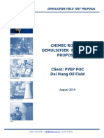 Chimec Ro 122d Demulsifier Field Test Proposal