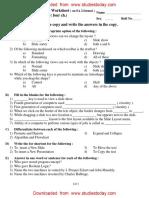 CBSE class 5 computer worksheet