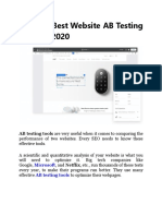 5 of the Best Website AB Testing Tool for 2020