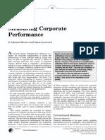 Corporate Performance