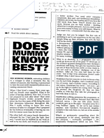 Reading - Does Mummy Know Best