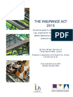 Insurance Act 2015 & Guidance