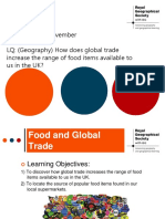 Global Trade Lesson 2 Food and Global Trade
