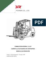 Instrucciones Carretilla Elevadora Diesel Kipor KDF35