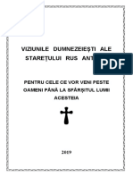 Viziunile Dumnezeiesti Ale Staretului Ortodox Rus Antonie 1