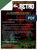 NEW & RETRO Valladolid GAME FESTIVAL 2019 Programa
