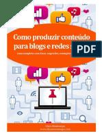 Como Produzir Conteúdo Para Blogs E Rede Sociais