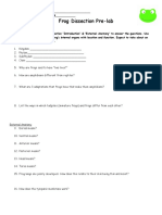 Frog Dissection Worksheet with virtual dissection.doc