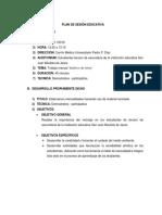 Plan de Sesión Educativa Muñeco de Nieve Reciclado