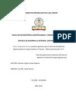 288 Evaluación de Tres Sustratos Orgánicos Para El Cultivo de Champiñones Agaricus Bisporus (Lange) Imbach en Cuesaca