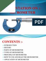 Presentation on Micrometer