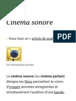 Cinéma Sonore — Wikipédia