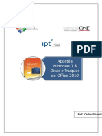 Apostila Windows7 Office2010 SoftwareOne IPT