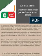Lei n° 11.445_07 Diretrizes Nacionais para o Saneamento Básico