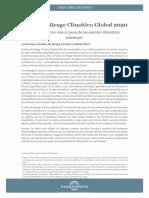 Índice de Riesgo Climático Global (IRC) 2020