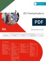 BSI TrainingAcademy Calendar Template