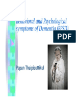 Behavioral and Psychological Symptoms of Dementia (BPSD