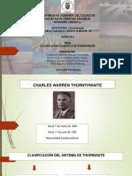 Clasificación Climática de Thornthwaite