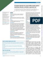 Platelet rich plasma injection for acute Achilles tendon rupture
