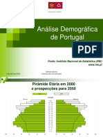 Analise Demografica Portugal