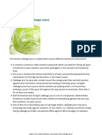 Cleanse With Cabbage Juice