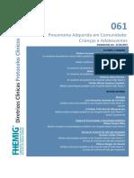 061 - Pneumonia Adquirida em Comunidade Crianças e Adolescentes.pdf
