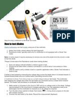 Diode Test process
