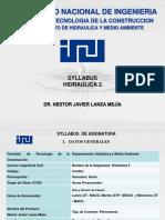 0 Sylabus Hidraulica 2