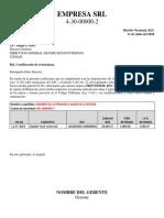 Certificacion de Retencion