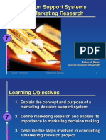 Decision support systems and marketing research