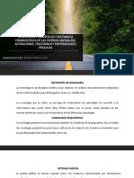 Nosologías Psiquiátricas y Relevancia Criminológico de Las Diversas enfermedades mentales