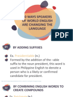 10 ways speakers of the world are changing the language and 5 popular singlish words