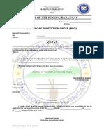 Barangay Protection Order (Bpo)