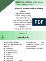 Slide Sistemas Operacionais de Dispositivos Móveis