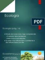 1 - Ecologia