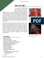 Energy Storage and Meta Data
