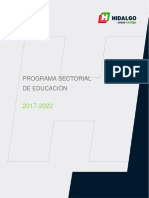 Programa Sectorial de Educacion 2017 2022