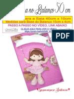 Bonequinha No Balaço 50 Cm - Sarah Silva