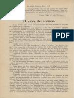 1924 El Valor Del Silencio