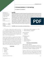 Topical Immunomodulators in Dermatology